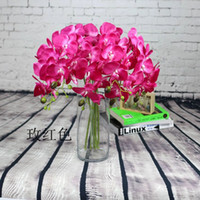 Wholesale Mix color Artificial Butterfly orchid Blossom flower branch home garden shop wedding decoration Christmas Christmas decoration