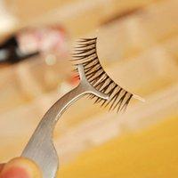 Wholesale Multifunction eyelashes forceps novice posted false eyelashes aids clip beauty tools straight tweezers eyelash tweezers