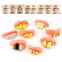 dental costumes - 8Pcs Vampire Fake Teeth Fangs Teeth Special Effects Dental Putty Costume Halloween MD534