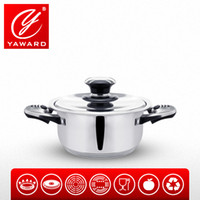 Wholesale YAWARD cm Saucepan Stainless Steel Combination Two Handle Double Bottom Pot Stainless Steel Lib With Thermo knob Cooking Tools