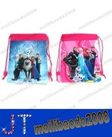 Wholesale New Cartoon Frozen Drawstring Backpack School Bag Handbags waterproof camping bags MYY12918A