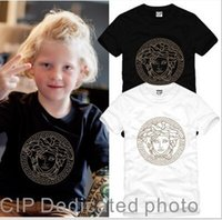 Wholesale high quality hot Cotton boys girls t shirts Medusa Head Tide brand range short sleeved T shirt Kids