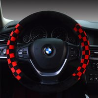 Wholesale Cheap Car Steering Wheel Covers Skidproof Spoke Steering Wheel Covers for All Cars Flocking Fabric and Rubber Material