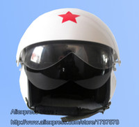 air force visor - TK Chinese Military Air Force Jet Pilot Open Face Motorcycle Helmet Racing Casco Bright Silver Helmet amp Dual Visor Adult