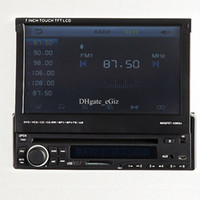 audi hd radio - 7 Inch Flip Down Car DVD Player Car Stereo In Dash One Din HD LCD Monitor Touch Screen w Wireless Bluetooth IR FM AM Modulator Games USB SD