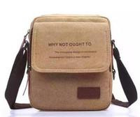 Wholesale 2016 fashion Men shoulder bag Korean version of casual canvas man bag small bag Messenger bag Cross bags