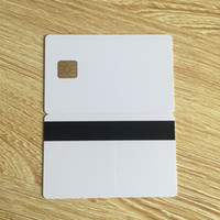 Wholesale 10pcs plastic blank sle4428 contact smart card with hico magnetic stripe
