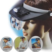 Wholesale Headband Headset LED Head Light Magnifier Magnifying Glass Loupe x Lens