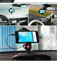 mp3 mp4 game - Car GPS Game holder Mobile Phones Handsfree Car Kit Speaker MP3 FM Transmitter Handsfree Calls Mobile Navigation Bracket Clip FM09