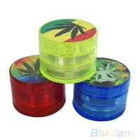 Wholesale 4 Layer quot Leaf Herbal Herb Tobacco Grinder Smoke Spice Crusher Hand Mill Muller W9J