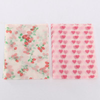 Wholesale 20Pcs Food Wrapping Waxed Paper Waterproof Greaseproof Papper Red Strawberry Pink Heart Candy Cake Paper Paraffin Letter