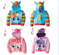Wholesale Retail My little pony girl children zipper hooded Outwear Coat Girls Hoodies Sweatshirts kids Baby long sleeve hoody Jackets clothing D06