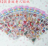 Wholesale Sheets Christmas Kids Cute PVC Puffy Stickers D Stickers Cartoon Craft Scrapbook Stickers