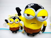 Wholesale 2015 New Despicable me Movie toy cm quot Pirate MINIONS stuffed Plush toys Soft Cartoon Toys