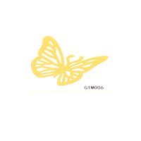 Wholesale Temporary Tattoo Stickers Metallic Gold Foil Tattoo Single Design Flash tattoos Gold Temporary Tattoo Waterproof About Inch GTM
