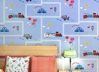 Paper Home Decor - Fashion Hot meter Wallpaper Home decor for kid bedding room Non woven of wall paper roll car carton