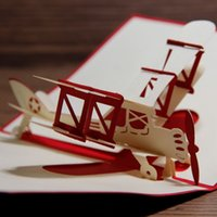 wholesale gift cards - 3D Design Soaring Aerodone Handmade Pop Up Card Glider Greeting Gift Card