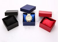 Wholesale High grade Jager pattern boxest watch box can be Gellary watch jewelry Gift Biack Red Blue package box