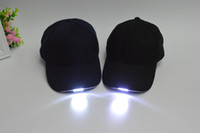 baseball trips - 2015 hot Baseball cap led lights glow cap hat Night fishing fishing cap Hat can lighting the camping trip hats Z00401