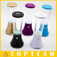 Wholesale Mini Speaker Water drop Show With LED Lamp Light Speakers Support USB Speakers Subwoofers Freeshipping DHL
