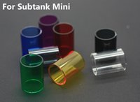 Wholesale 2015 Replacement Pyrex Colorful Glass Tube Newest For Kanger Subtank Atomizer Subtank Mini Glass Tube