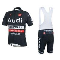 custom clothing - Audi cycling jersey bibs shorts custom design cycling clothing accepted