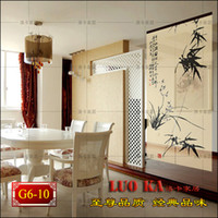 bamboo painted curtains - Chinese Feng Shui curtain cords screen arts block evil shutter curtain off curtain bamboo curtain painting set