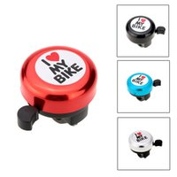 Wholesale Aluminum Handlebar Bell Horn I Love My Bike Printed Clear Loud Sound Bike Ring Cute Mini Alarm Warning Bicycle Cycling Bell