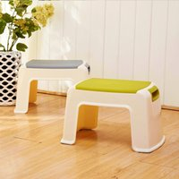Wholesale Small children plastic stool stool stool changing his shoes stool fashion bathroom thickened slip stool stool feet