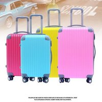 Wholesale ABS waterproof oil proof ABS PC travel trolley hard shell zipper promotion gift cheap luggage in