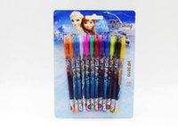 Wholesale 12pcs Frozen Gel Pen Shining Glitter Writing Supplies Stationery Office School Supplies
