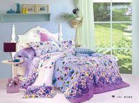 adult bedroom decor - vivid purple blue flower printing comforter quilt cover girls bedding set cotton full queen size adult bedroom decor sheet