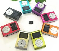 Wholesale MINI Clip MP3 Player With Inch LCD Screen Support Micro SD Card TF Slot Including Earphone USB Cable in Gift box