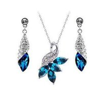 Earrings & Necklace earrings and necklace sets - Austrian crystal Rhinestone jewelry sets High quality necklace and earrings Woman crystal jewelry z049
