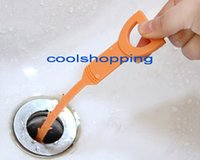 plastic clogs - DHL200pcs Freeshipping Plastic Drain Clogs Cleaner Sink Plumbing cleaning Small Tool clean hook