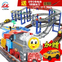 Wholesale Li Xin Thomas train toy boy toy train track car racing track suit children s toys