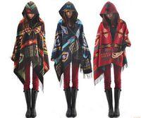 Wholesale NEW Fashion Winter Women Scarves Long Imitation cashmere Bohemia Hooded cloak scarfs Girl Neck Scarf fashion Lady Shawl WW03