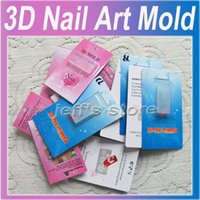 acrylic nail mould - different style D Mold Acrylic rectangle Mould for Nail Art D Curving Mold Stamp for Acrylic Nail Gel