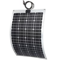 aluminum solar panels - 60W ETFE Semi flexible solar panel for RV yacht vehicle fiberglass aluminum material back sheet