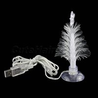 Cheap Wholesale-USB Powered Charming Romantic Color Changing Decoration Light LED Multi Color Christmas Tree Light Lamp with Sucker