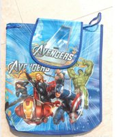 Wholesale Cartoon Backpack Frozen Anna Elsa Princess peppa pig The Avengers Non woven String Backpack for Kid Children s School Bag birthday gifts