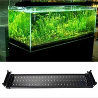 Wholesale 2015 New W Aquarium LED Lights V SMD Blue And White Mode Decorative Lamp For Fish Plant Lighting With EU UK US Plug epistar chip