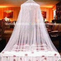 Cheap Mosquito Net for Bed (WHITE). With FREE Mosquito Repellant Bands or Stickers Chiffon Furbelow Princess Bed Canopy
