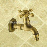Wholesale Garden Bibcock faucet tap crane Antique Brass Finish Bathroom Wall Mount Washing Machine Water Faucet Taps ZLY