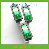 appliance rocker switch - KCD3 N KCD2 Green Rocker Switch Feet Position with Light Power Switch for Industrial amp Household Appliances ect