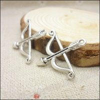 arrow charm - Vintage Charms Bow and arrow Pendant Antique silver Fit Bracelets Necklace DIY Metal Jewelry Making