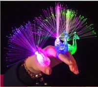 big flashlights - Popular Led Lighted Toys Flash The Peacock Flashlight LED Mitts Ring Children Gift Party Prop Supply
