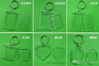 blank keyrings - Blank Acrylic Rectangle Keychains Insert Photo Keyrings Key ring chain