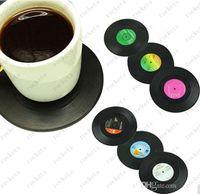 vinyl record - New Fashion Set Spinning Retro Vinyl CD Record Drinks Coasters Vinyl Coaster Cup Mat