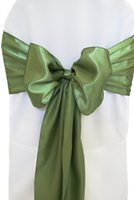 Wholesale Cheap Chair Sashes Turquoise Party Decorations For Weddings Spandex Green Red Pink Mint Blue With Bow